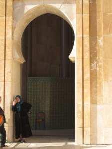 intrare pt femei, moscheea Hassan 2