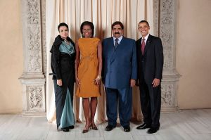 Hamad_Bin_Khalifa_Al-Thani_with_Obamas