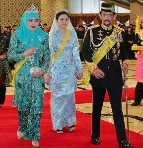 sultan Brunei, cu sotiile