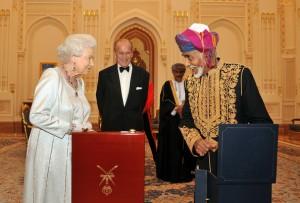sultanul din Oman si regina Elisabeta